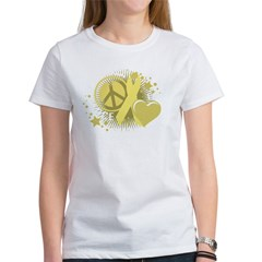 Spina Bifida Peace Love Cure Women's T-Shirt