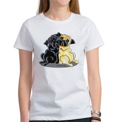 Black Fawn Pug Women's T-Shirt