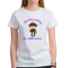 big sister pink brown flower Women's T-Shirt