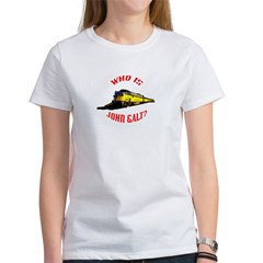 johngalt_red_10x10_train.psd Women's T-Shirt