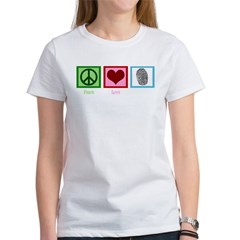 Peace Love CSI: Miami Women's T-Shirt