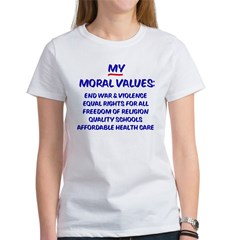 My Moral Values Ash Grey Women's T-Shirt