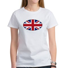 UK (Union Jack) Flag in Oval Women's T-Shirt