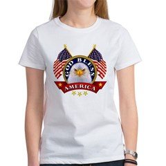God Bless America Ash Grey Women's T-Shirt