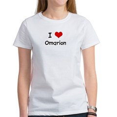 I LOVE OMARION Ash Grey Women's T-Shirt