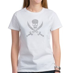 Vintage Pirate Symbol Black Women's T-Shirt