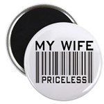 """My Wife Priceless Barcode 2.25"""" Magnet (100 pack)"""
