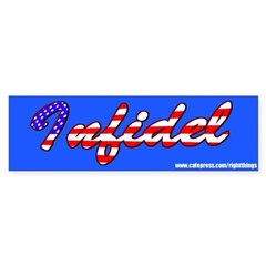 INFEDEL! Sticker (Bumper)