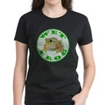 Wet Pond Frog Women's Black T-Shirt