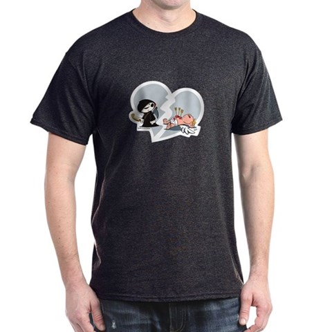 anti valentines day death vs cupid t-shirt