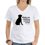 Mutt Fur Children Women's V-Neck T-Shirt