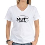 MUTT GRANDMA Women's V-Neck T-Shirt