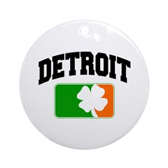 Detroit Shamrock Ornament (Round)