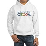 Father of the Groom Rainbow Hooded Sweatshirt