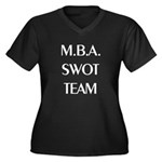 MBA SWOT Team Women's Plus Size V-Neck Dark Tee