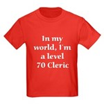 Level 70 Cleric Kids Dark T-Shirt