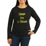 Large In Charge Women's Long Sleeve Brown T-Shirt