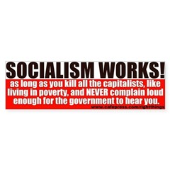 SOCIALISM WORKS! Political Sticker (Bumper)