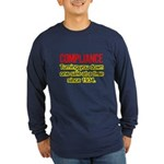 Compliance Turn Down Long Sleeve Dark T-Shirt