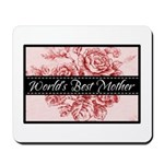 Pink Toile World's Best Mother Mom Mousepad