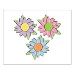 Pretty Mother's Day Cartoon Flowers Small Poster