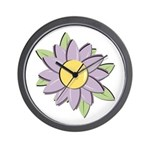 Purple Cartoon Flower Spring Wall Clock
