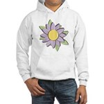 Purple Cartoon Flower Spring Hooded Sweatshirt