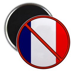 "Anti France 2.25"" Magnet (100 pack)"