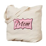 Pink World's Best Mom Plaque Tote Bag