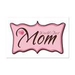 Pink World's Best Mom Plaque Mini Poster Print