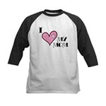 I Love Heart My Mom Mother's Day Kids Baseball Jer
