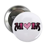 "Tattoo Mom Pink Heart Mother's 2.25"" Button (10 pa"