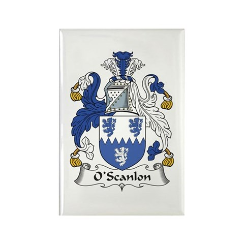 The O'Scanlon Family Crest. Be proud of your genealogy, heritage, and family! Get this detailed and authentic design on great t-shirts, mugs, magnets,