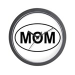 Mom European Oval Mother's Day Wall Clock