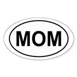Mom European Oval Mother's Day Oval Sticker