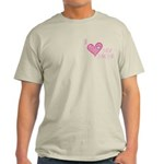 I Love Heart My Mom Mother's Pink Light T-Shirt