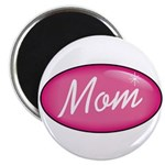 "Pink Mom is my Idol Logo 2.25"" Magnet (100 pack)"