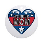 Heart Wonder Mom Mother's Ornament (Round)