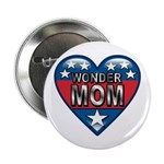 Heart Wonder Mom Mother's Button