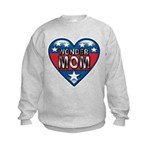 Heart Wonder Mom Mother's Kids Sweatshirt