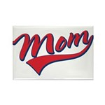 Baseball Style Swoosh Mom Rectangle Magnet (10 pac