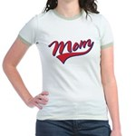 Baseball Style Swoosh Mom Jr. Ringer T-Shirt