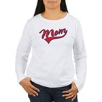 Baseball Style Swoosh Mom Women's Long Sleeve T-Sh