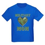 Military Mom Camouflage Camo Heart Kids Dark T-Shi