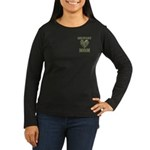 Military Mom Camouflage Camo Heart Women's Long Sl