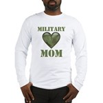Military Mom Camouflage Camo Heart Long Sleeve T-S