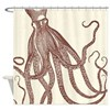 Exquisite Vintage Octopus In Earth Shower Curtain