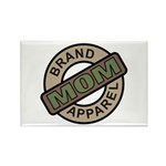 Mom Name Brand Apparel Logo Rectangle Magnet (100