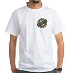 Mom Name Brand Apparel Logo White T-Shirt