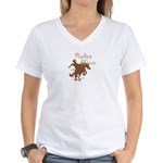 Rodeo Mom Wester Cowboy Cowgirl Women's V-Neck T-S